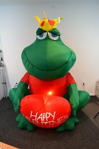 Frog Prince Gemmy Happy Valentines Day Heart Inflatable Yard 6' Lighted Open Box