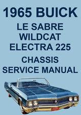 BUICK 1965 WORKSHOP MANUAL: LE SABRE, WILDCAT, ELECTRA 225