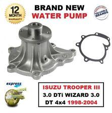 Tout Neuf Eau Pompe pour Isuzu Trooper III 3.0 Dti Sorcier 3.0 Dt 4x4 1998-2004
