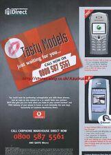 "Vodafone ""Carphone Warehouse Direct"" Phone 2003 Magazine Advert #46"