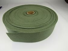 2 inch wide military OLIVE DRAB OD cotton lightweight webbing, 25 FEET