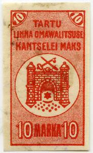 c1925 TARTU ESTONIA MUNICIPAL REVENUE