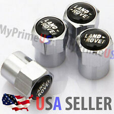 LandRover Land Rover LR Valve Stems Caps Covers Chromed Roundel Emblem Logo Tire