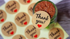 60Pcs Paper Thank You Stickers Self-adhesive Baking Sealing FUNNY
