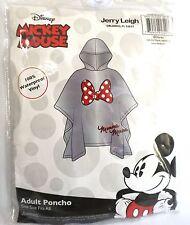 Disney Adult Minnie Mouse Bow Parts Rain Poncho Keep Dry