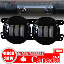 FRONT 4Inch 30W LED FOG LIGHT PROJECTOR DRIVING LAMP FIT 07-17 JEEP Wrangler JK