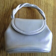Genuine Frenchy of California Metallic Pearl Bone Leather Purse Chain & Handle