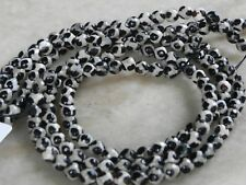 Dalmation  Agate 6mm faceted Beads 15 inch strand approx 62 Beads