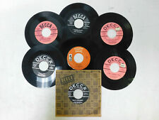 Lot Of 7 Louis Armstrong 45's Hello Dolly,Blueberry Hill, Pretty Little Missy