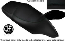 BLACK VINYL CUSTOM FITS HONDA TRANSALP XL 700 V 08-12 DUAL SEAT COVER ONLY