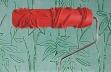Bamboo Leaf Pattern Paint Roller Embossed18cm Wallpaper art DIY Decorate Stencil