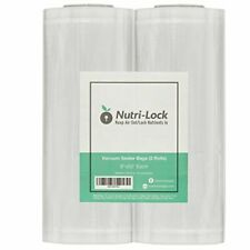 New listing Nutri-Lock Vacuum Sealer Bags. 2 Rolls 8x50. Commercial Grade Assorted Sizes