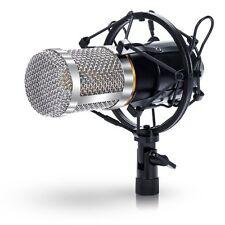 Professional microphone studio à condensateur Studio d'enregistrement avec Shock Mount Noir