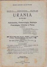 Urania, rivista, 1926, anno XV n. 1, astronomia, mineralogia, chimica, fisica