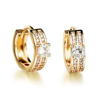 18K Gold Plated Earring  AAA Cubic Zirconia Women's Lever Latch Back Clasp G232