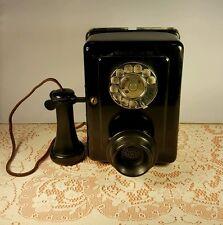 Vtg Western Electric Wall Kitchen Phone,#653-E,1930's,Bakelite Horn,Tilt,V.G.C!!