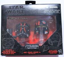 STAR WARS Black Titanium Series Helmets Tie Fighter Pilot and Poe Dameron