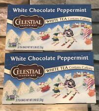 Celestial Seasonings White Tea White Chocolate Peppermint, 2 Pack