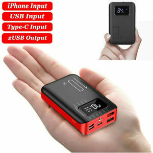 900000mAh Mini Power Bank Charger Battery Pack Portable 2USB For Mobile Phone UK