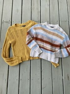 Lot Of 2 American Eagle Outfitters Women Sz Extra Small XS Knit Sweater Top