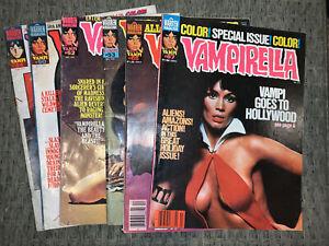 vampirella warren magazine 6 book lot!!🔥👀(1976-77)