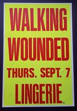 Walking Wounded Vintage Boxing Style Concert Poster 1989 Hollywood The Plimsouls