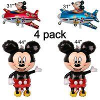 "Mickey Mouse Decor Balloon Jumbo 44"" Set For Birthday Foil Balloon Party Supply"