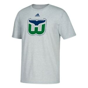 Hartford Whalers NHL Adidas Primary Graphic Men's Grey T-Shirt