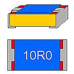 SMD-Widerstand 10 Ohm 1% 0,063W Bauform 0402 gegurtet