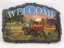 """Welcome Sign Bradford Exchange """"Farmall Traditions"""""""