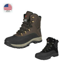 Men's Insulated Waterproof Construction Hiking Boots Winter Trekking Snow Boots