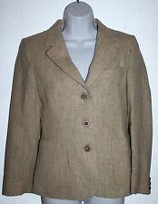 ANTHONY BOEG Cork City Irish Tweed 3-Button Tan Wool Blazer