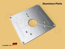 ALU Befestigungsplatte Einlegeplatte Frästisch Bosch POF 1400 ACE 1200 AE Fräse