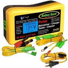 Save-A-Battery 2365-LCD 6 & 12 Volt Vehicle Battery Charger, Maintainer & Tester