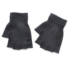 1Pair Solid Color Kids Winter Soft Plush Half Finger Fingerless Gloves Warm CB