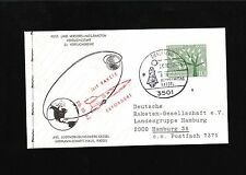 Germany Rocket Mail Handstamp Mit Rakete  Printed Message Hermann Langkrär 8x