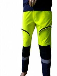 pantalone alta visibilita giallo blu elasticizzato