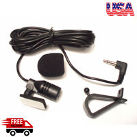 3.5mm Microphone Car Stereo GPS Bluetooth Enabled Audio DVD External Mic w/ Clip