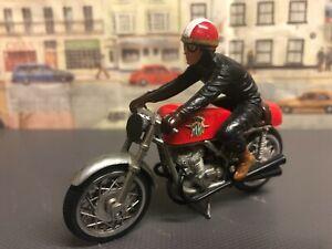 Vintage Motorbike with Rider die cast model