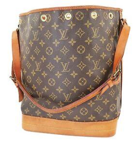 Authentic LOUIS VUITTON Noe Monogram Shoulder Tote Bag Purse #38801