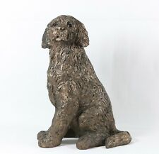 More details for frith sculpture  jessie  cockapoo sitting  -  bronze  - boxed new