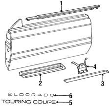 Cadillac GM OEM 92-02 Eldorado Door Body Side-Lower Molding Clip 3548693