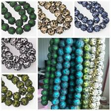 5pcs 18mm Round Matte Lampwork Glass Loose Craft Beads For Jewelry Making DIY