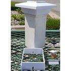 Solar Post Cap Deck Light 4x4 White Low Profile 4 SMD LEDs Sun (1 Pack) PL251