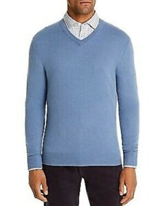 Bloomingdale's BLUE FOX Cashmere V-Neck Sweater, US Small