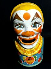 Vintage Chein  Clown Tin Penny Bank