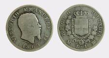 pci4482) VITTORIO EMANUELE II (1861-1878) 1 LIRA STEMMA 1863 MI AR