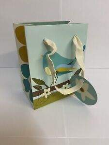 72 BLUE BIRD LEAF SMALL GIFT BAGS SHOP STALL BOUTIQUE PRESENT13.5 x 11 x 7cm NEW