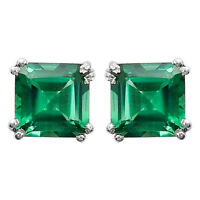 Green Tourmaline Simulated Stud 925 Sterling Silver Earrings Jewelry DGE1002_G