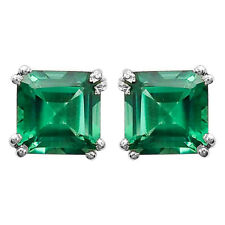 Green Tourmaline Stud 925 Silver Earrings Jewelry with Gift Box DGE1002_G